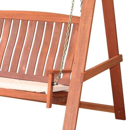 Dondolo da giardino in legno tropicale con cuscino arredo for Arredo legno