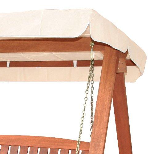 Dondolo da giardino in legno tropicale con cuscino arredo for Montaggio dondolo